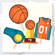 Sports themed party decorations available to print.