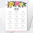 Yearly calendars available to print.