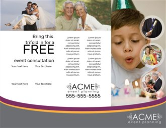 free brochures for event planning creative center