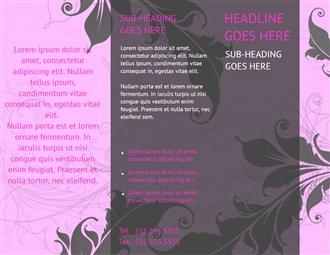 Pink Wedding Brochure Templates