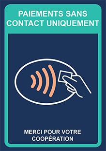 Paiements sans contact uniquement