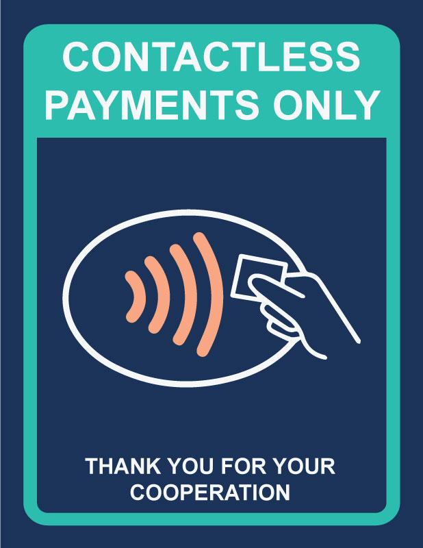 free printable contactless payments only