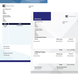 This Invoices design is available to print and personalise.