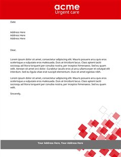 urgent-care-letterheads-s-us Design Thank You Letter Templates on free sample, corporate sponsor, for writing, for creative, pdf donation, after job interview, microsoft word, interview email, for students,