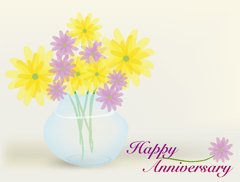 picture regarding Printable Anniversary Cards Free known as Cost-free Printable Pleased Anniversary 5 Inventive Middle