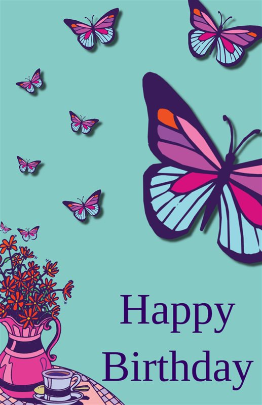 Free Printable Birthday Butterfly