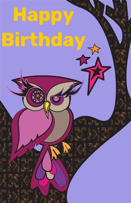 Free printable birthday owl creative center birthday owl bookmarktalkfo Choice Image