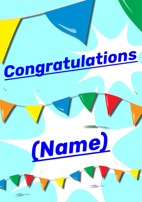 image regarding Free Printable Congratulations Cards titled Cost-free Printable Congratulations 4 Resourceful Middle
