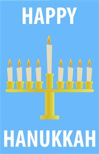 image relating to Free Printable Hanukkah Cards titled Cost-free Playing cards Invites for Hanukkah Artistic Middle
