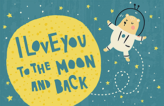 I Love You to the Moon and Back Bear