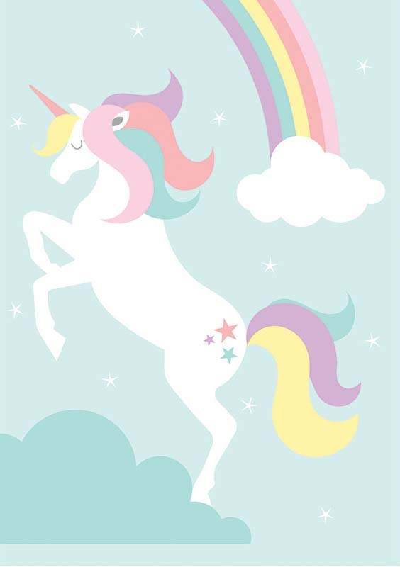 image regarding Free Unicorn Printable named Absolutely free Printable Unicorn Rainbow Imaginative Centre