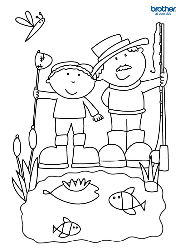 Free Printable Father's Day Coloring 2 | Creative Center