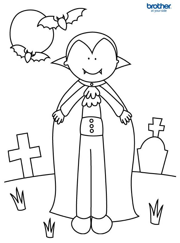 Free Printable Halloween Colouring 1 | Creative Center