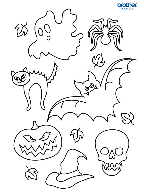 Free Printable Halloween Colouring 5 | Creative Center