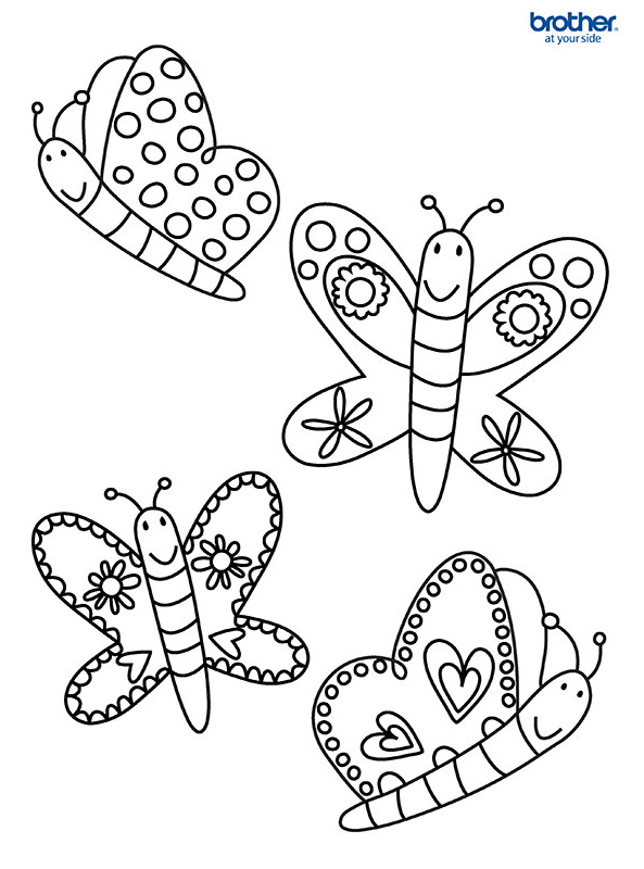 Free Printable Colorful Butterflies | Creative Center