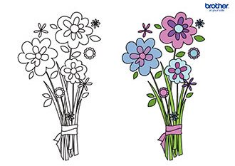 Mother's Day Colouring 6
