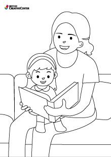 Reading with mum