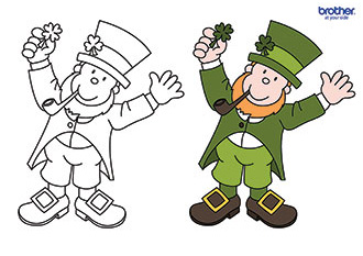 Leprechaun Colouring