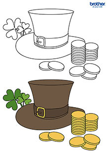 Leprechaun Hat Colouring