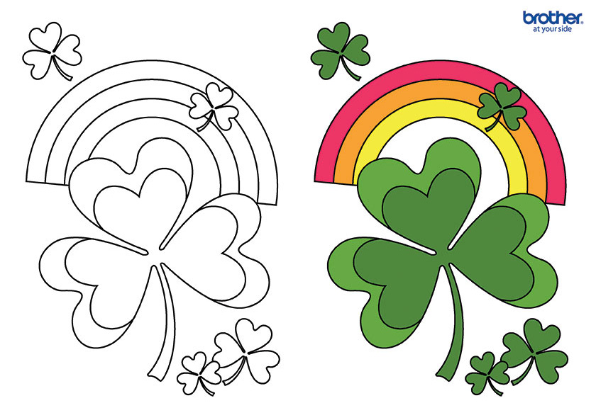 Free Printable Lucky Shamrock Coloring Creative Center