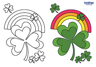Lucky Shamrock Colouring