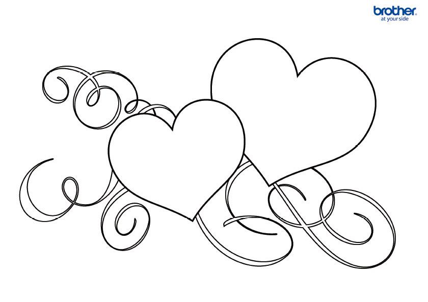 Free Printable Valentine Colouring 1   Creative Center