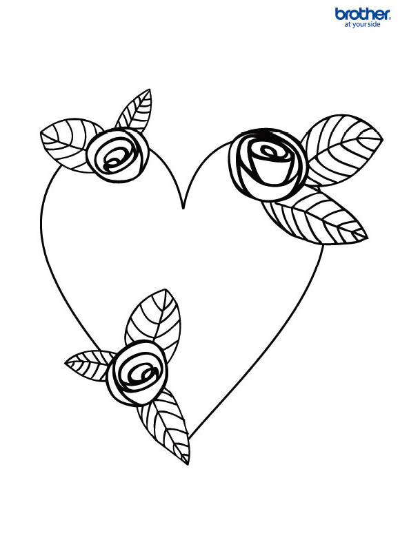 Free Printable Valentine Colouring 2 | Creative Center