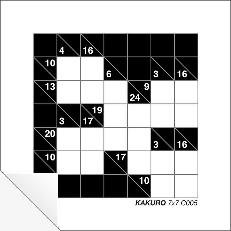 photograph about Kakuro Printable identified as Free of charge Printable Kakuro 7x7 C005 Innovative Heart