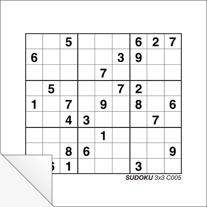 picture regarding Beginner Sudoku Printable known as Cost-free Printable Sudoku 3x3 C005 Innovative Centre