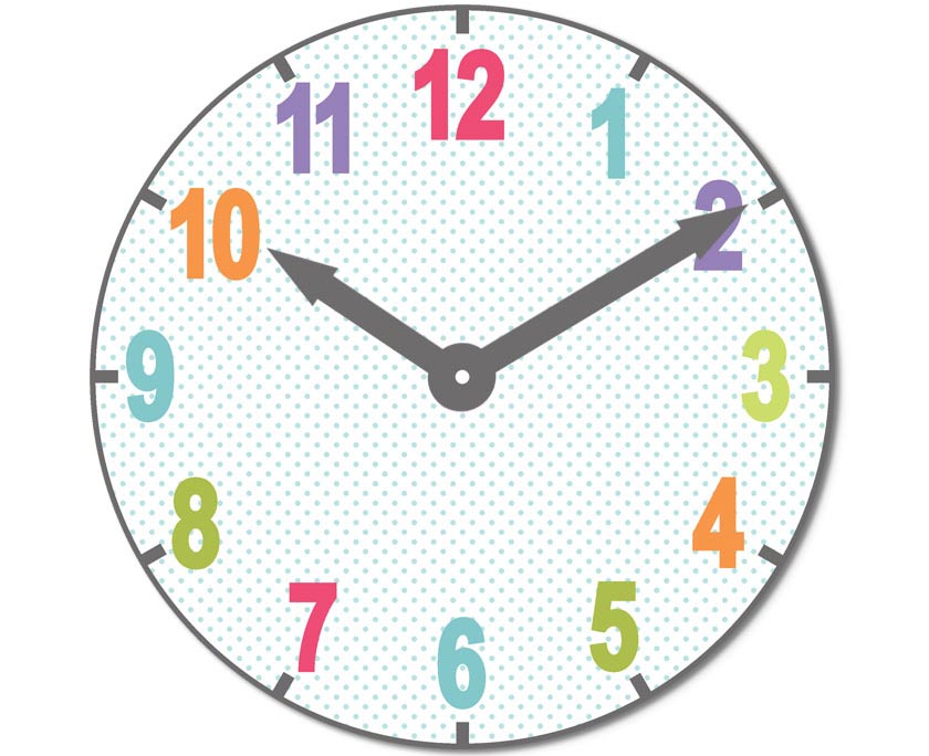 This is an image of Printable Clock Faces for Crafts with farmhouse