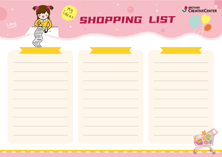 Cute Shopping List