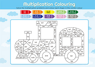 Multiplication colouring