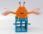 Papercraft de un cangrejo con movimiento. Manualidades a Raudales.