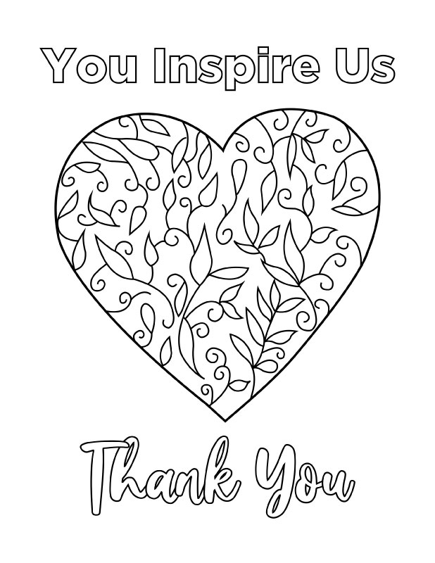 You inspire us (coloring)
