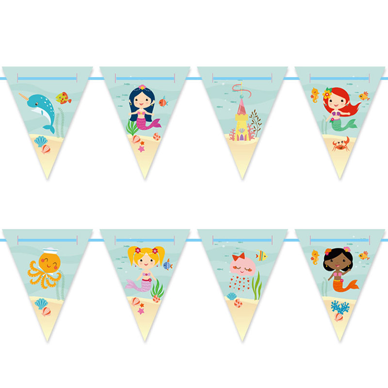 picture relating to Printable Mermaid titled No cost Printable Mermaid Occasion Bunting Artistic Centre