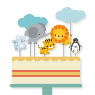 Zoo Party Cupcake Toppers