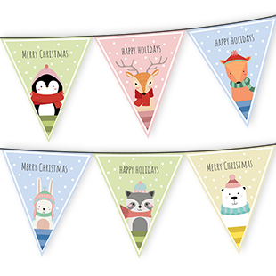 Christmas Animals Bunting