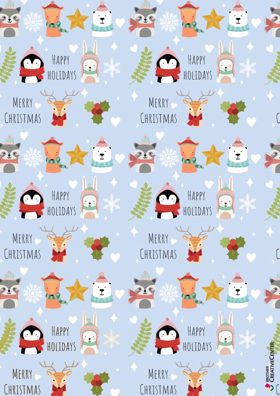 Christmas Animals Wrapping Paper