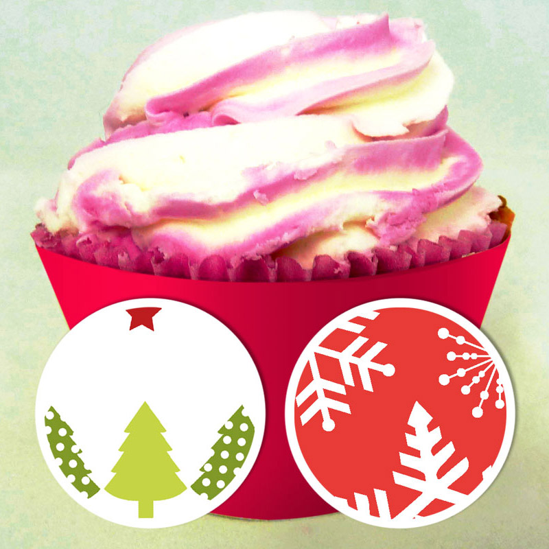 Christmas Cupcake Wrapper 1