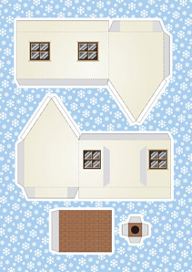 picture about Printable Christmas Village Template identify Absolutely free Printable Xmas Village Inventive Centre