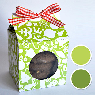 Treat Box-Green Holiday