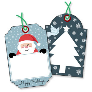 Christmas Message Tags Set