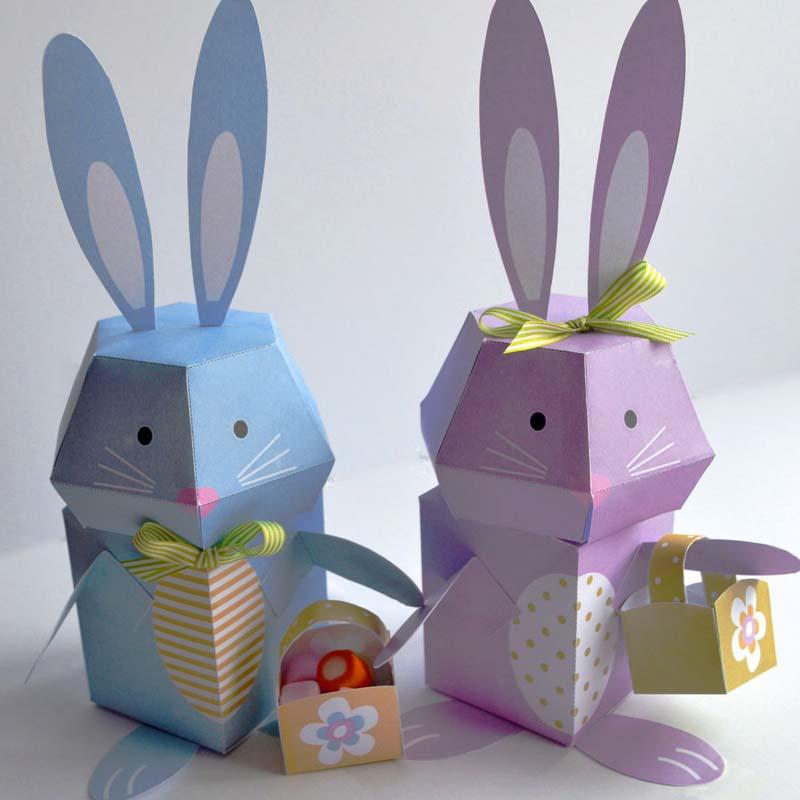 free printable easter 3d bunny creative center