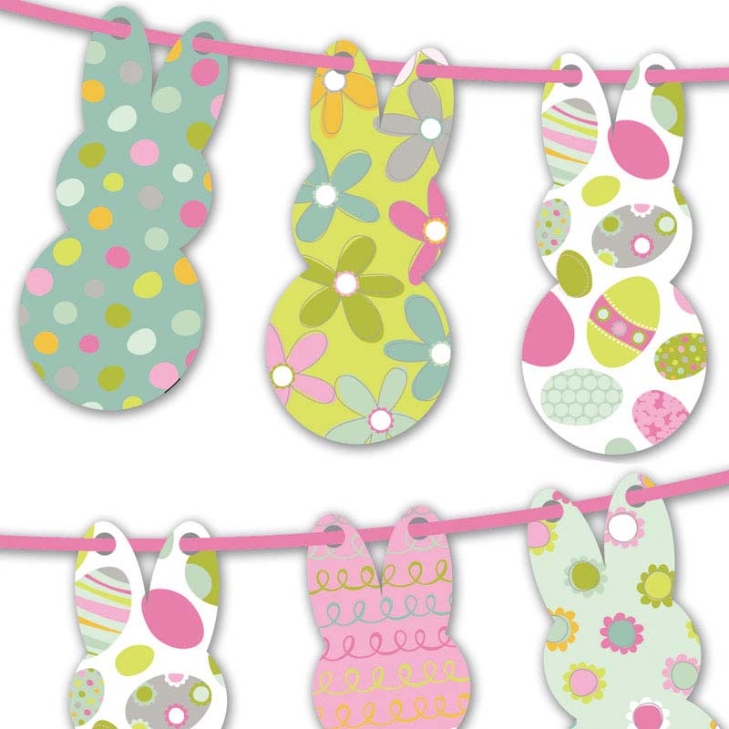 image about Printable Easter Decorations referred to as Free of charge Printable Easter Bunny Bunting Inventive Centre