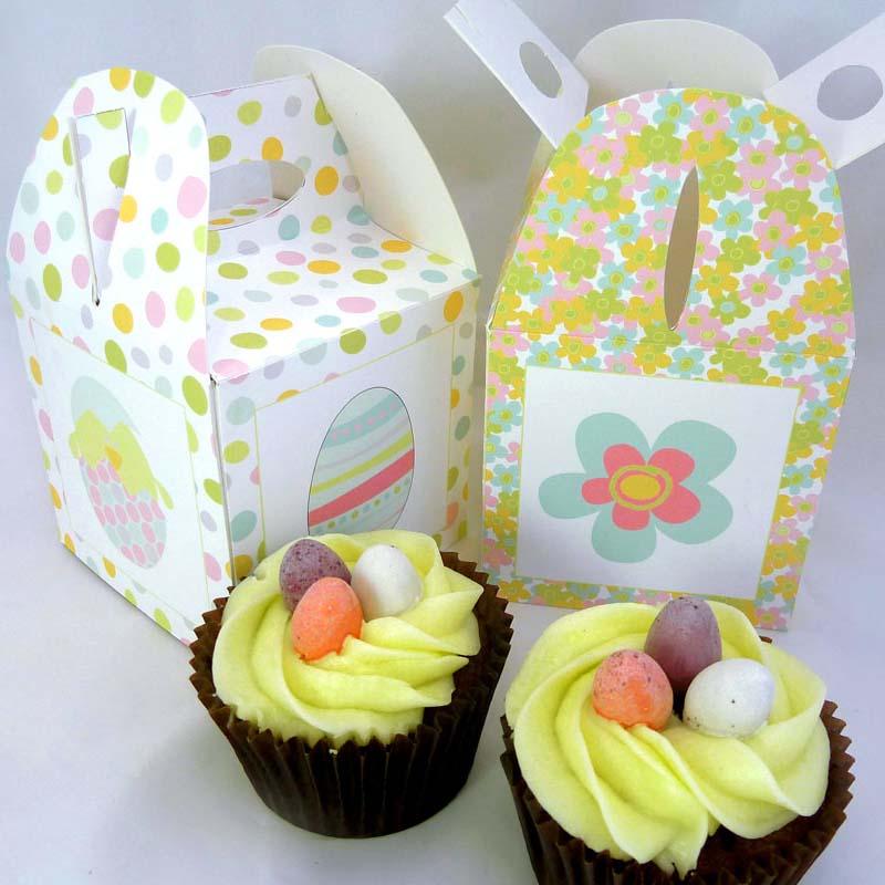 Free Printable Easter Cupcake Boxes