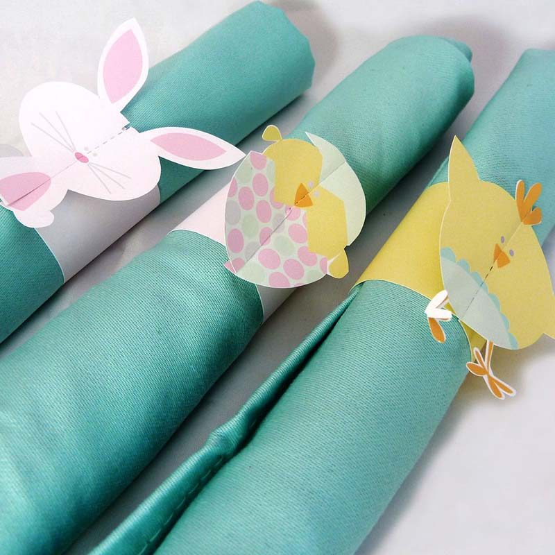picture regarding Printable Napkin Rings referred to as Free of charge Printable Easter Napkin Rings Imaginative Middle
