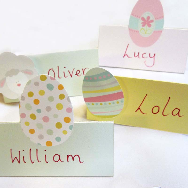 picture regarding Free Printable Name Cards titled Cost-free Printable Easter Location Playing cards Inventive Centre