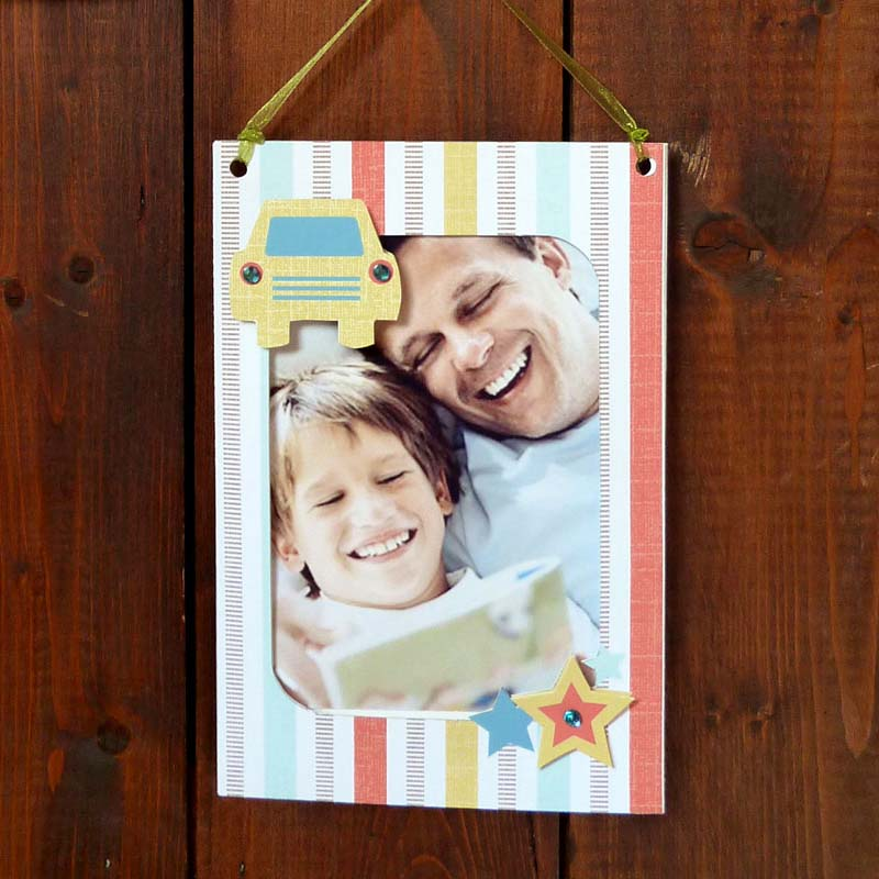 Father's Day Car Photo Frame