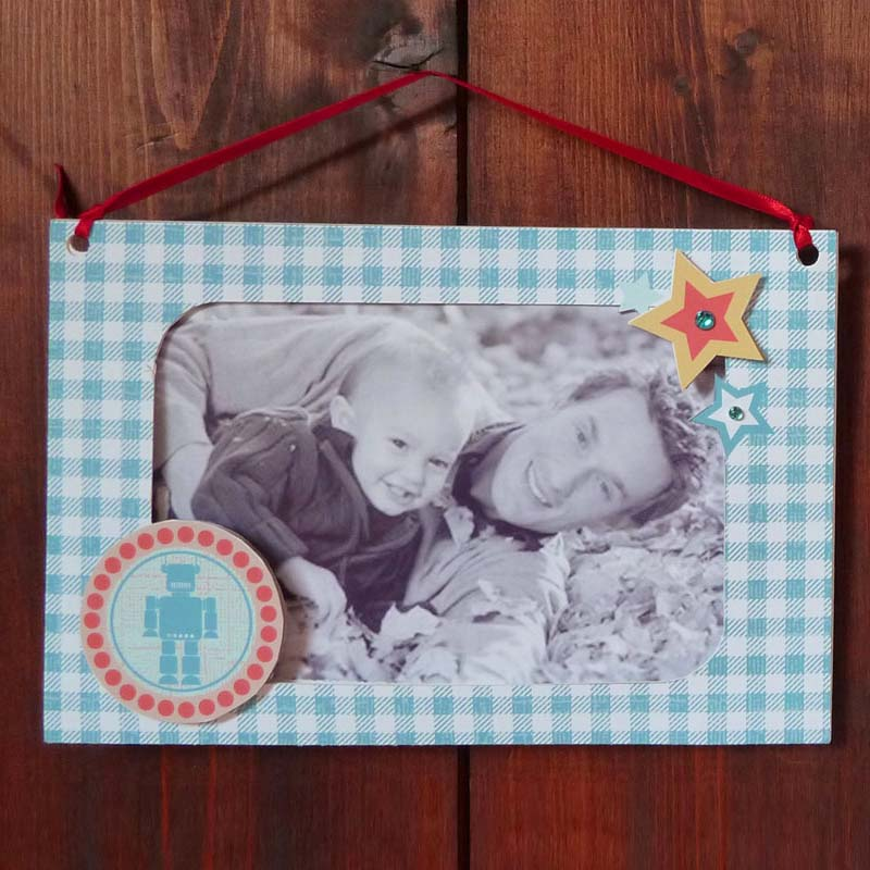 Father's Day Robot Photo Frame