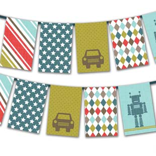 Father's Day Square Flag Bunting